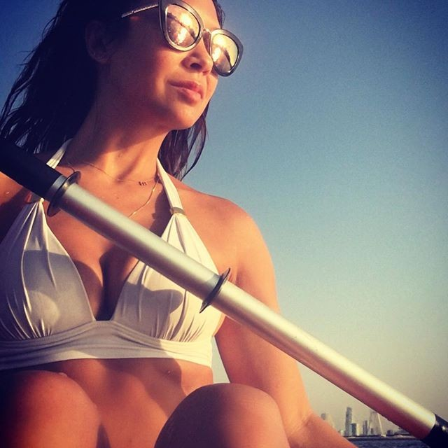 Myleene Klass Flashes Her Incredible abs and Flawless Figure