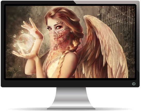 Ange Gardien - Fond d'Écran en Full HD 1080p