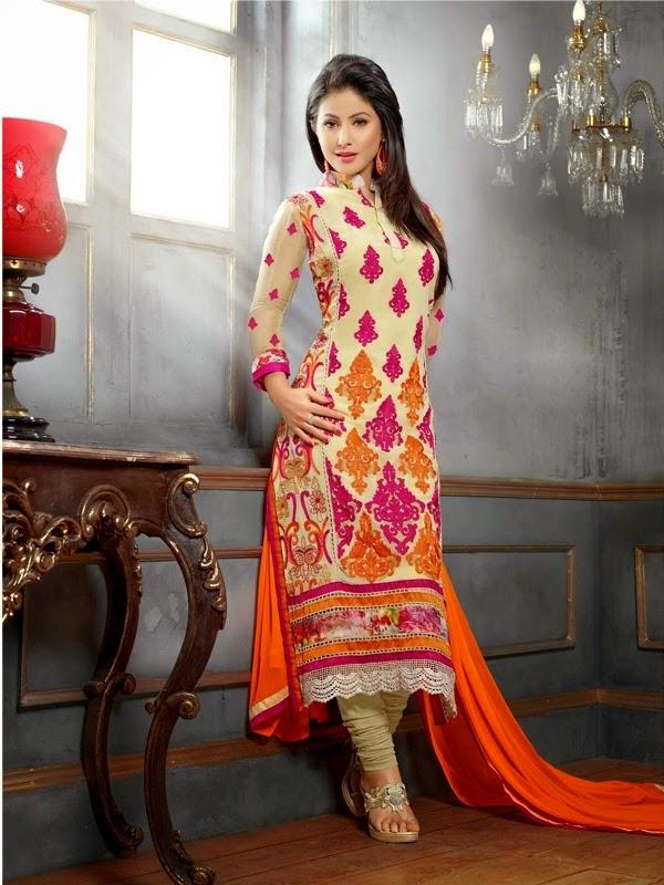 Eva Elegance: Heena Khan Latest Pakistani Designer Salwar