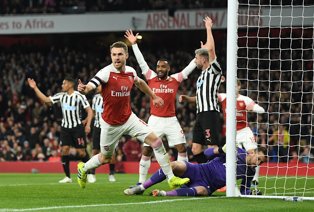 Arsenal Aaron Ramsey Celebrates Vs Newcastle United