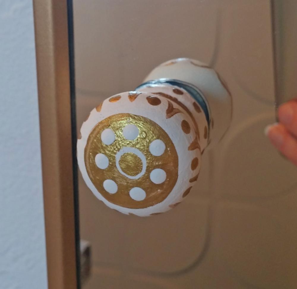 Painted boho cabinet knob