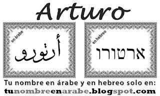 mi nombre en hebreo: Arturo