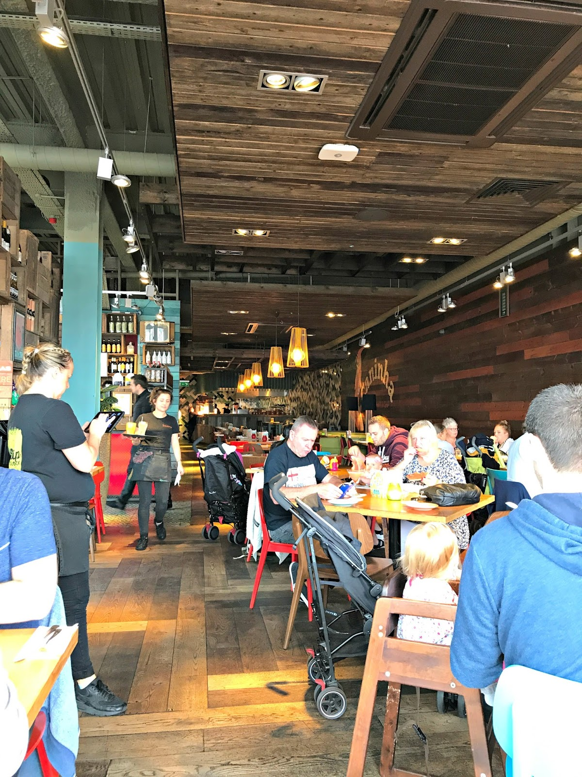 Interior of Las Iguanas Restaurant, Mermaid Quay, Cardiff Bay
