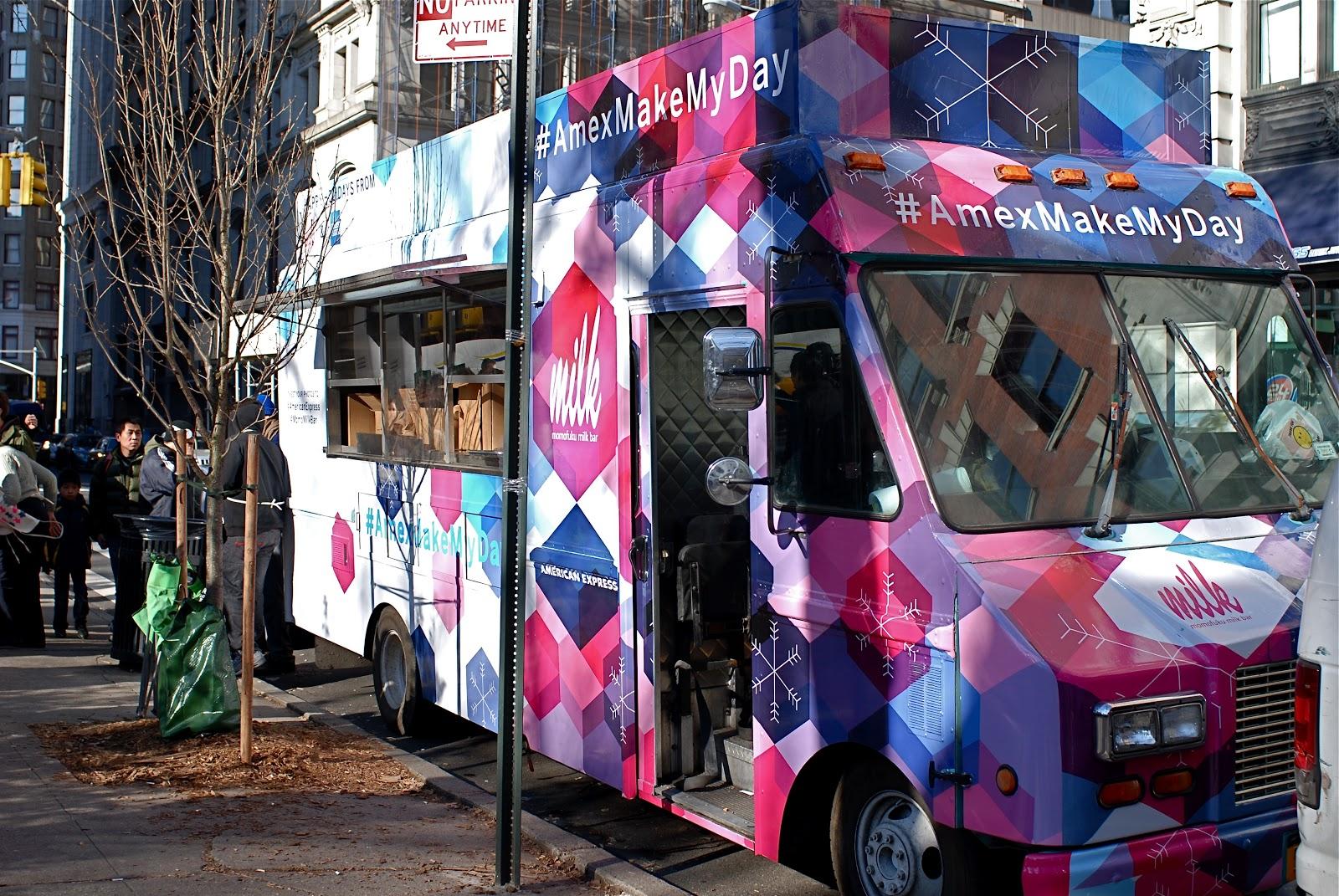Momofuku Milk Bar Holiday Cookie Giveaway Via AmexMakeMyDay Food Truck