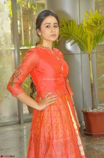 Simrat in Orange Anarkali Dress 21.JPG
