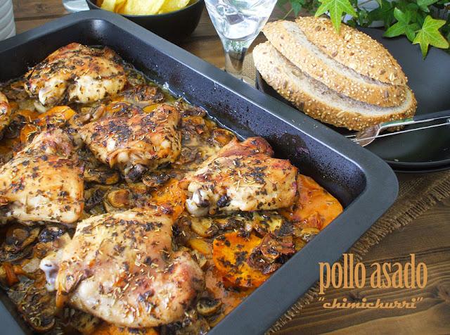 Pollo asado Chimichurri