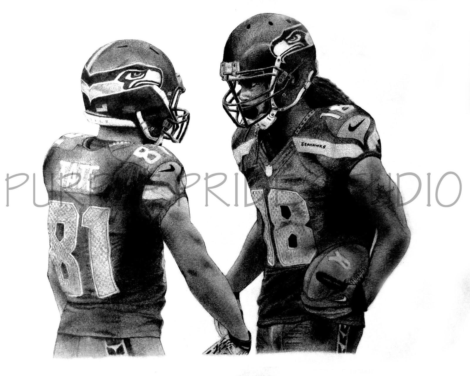 Purple Pride Studio: NFL Drawings |Nfl Drawings