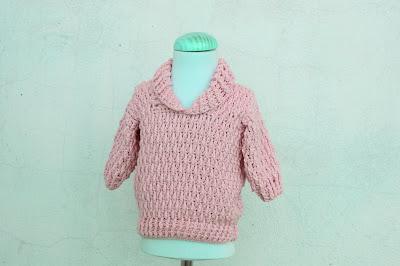 5 - Majovel Crochet Imagen Jersey azul con punto elastico a crochet y ganchillo