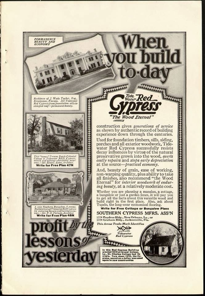 Southern Cypress Manufacturers Association Cypress Print