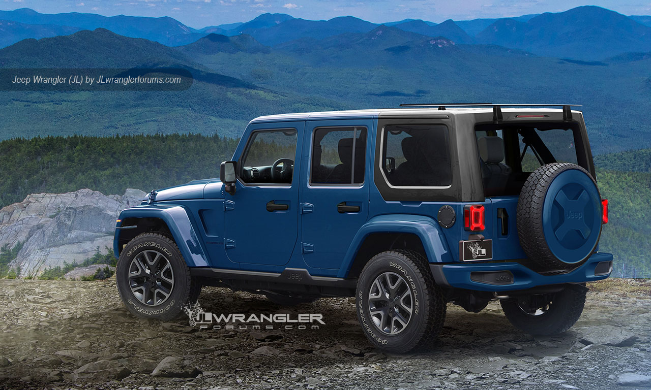 2018 jeep wrangler looks ready to rock in latest renderings carscoops. Black Bedroom Furniture Sets. Home Design Ideas