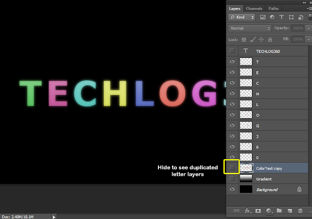 hide layer in photoshop