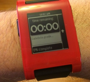 DIY 3D Printing: Octowatch and Octowatch2 Pebble Smartwatch Apps