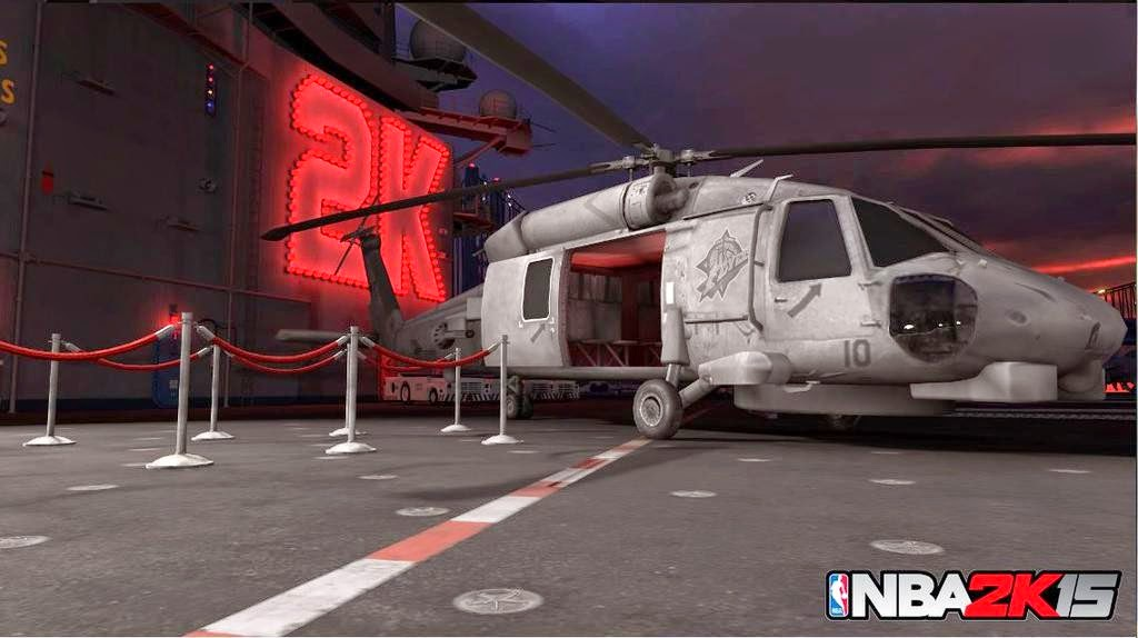 NBA 2K15 OT Flyers Park Chopper Screenshot