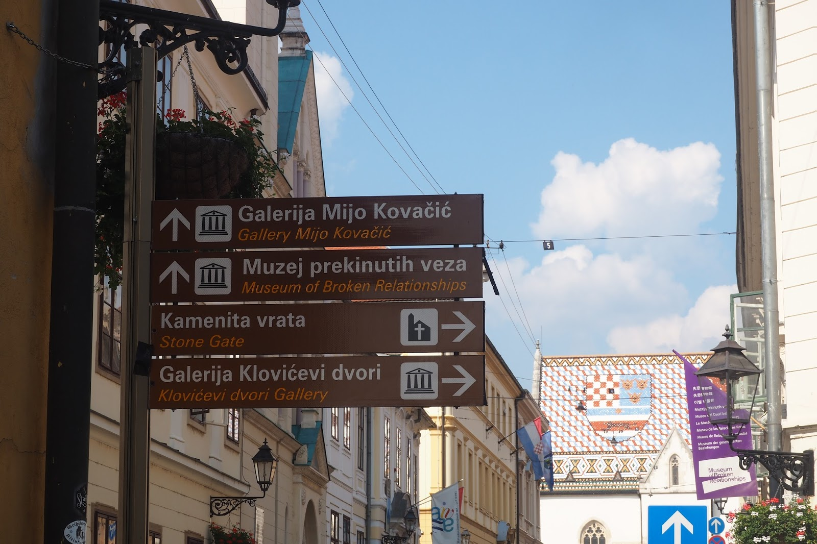 Street signs in Zagreb