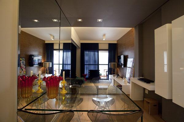 Hogares frescos peque o apartamento de 45 metros for Como decorar un apartamento de 45 metros