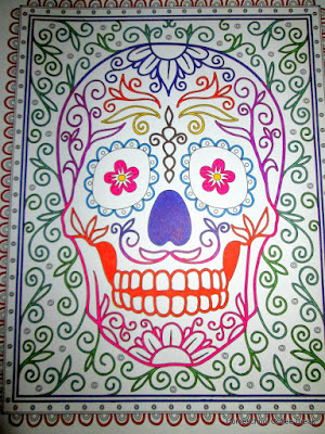 Dia de los Muertos on the Virtual Refrigerator, an art link-up hosted by Homeschool Coffee Break @ kympossibleblog.blogspot.com