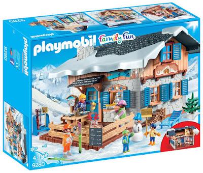 PLAYMOBIL Family Fun - 9280 Cabaña de esquí | Casa de la montaña con nieve | 2018 COMPRAR JUGUETE - TOYS - JOGUINES caja