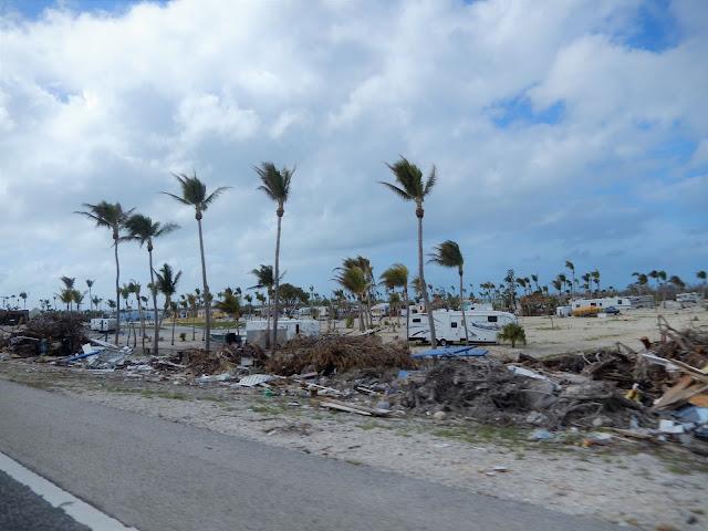 Huellas del huracán que visitó Miami hace poco