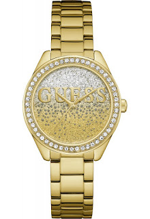 Ceas de dama auriu Guess GLITTER GIRL W0987L2