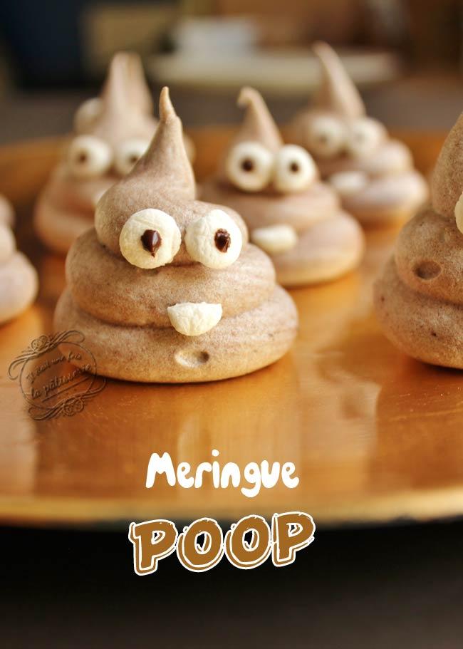 meringue chocolat poop