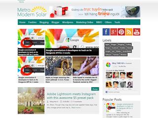 Metro Modern Solar V1 Blogger Template