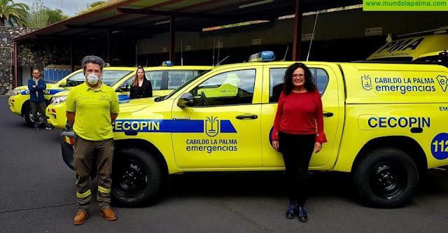 El Cecopin incorpora tres nuevos vehículos para mejorar las labores de coordinación de emergencias en la isla