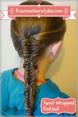Astounding Side Braid Twist Wrapped Fishtail Hairstyle Tutorial Hairstyles Hairstyles For Men Maxibearus