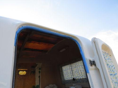 fiberglass trailer door with pool noodle gaskets