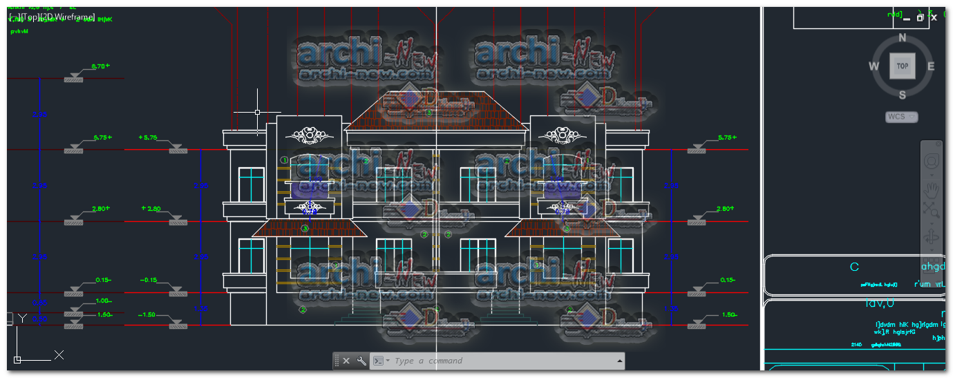 Full details villa dwg cad house archi new free dwg file for House cad file