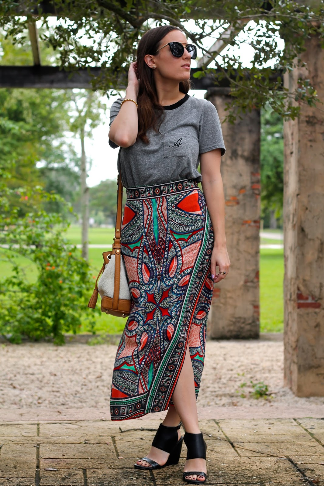 Anthropologie, urban outfitters, Adam Lippes for Target, M.I.A., NastyGal, CocoQ, Miami fashion blogger, fashion blog, style blog, fashion blogger, style blogger, outfit ideas, maxi skirt, what I wore, ootd, Miami style