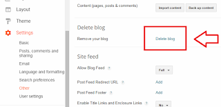 delete blogger blog