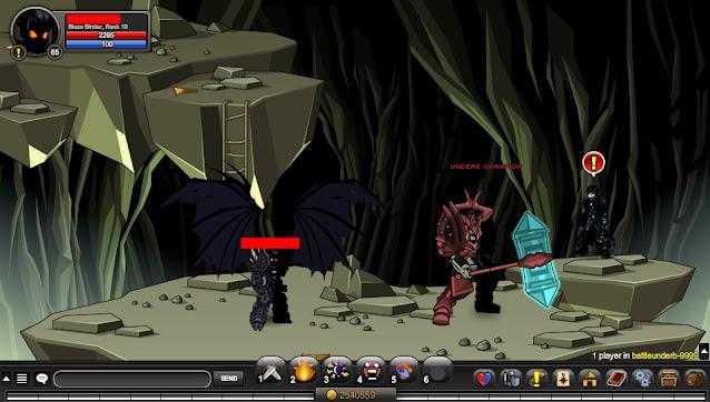 Undead Champion AQW Coordinates