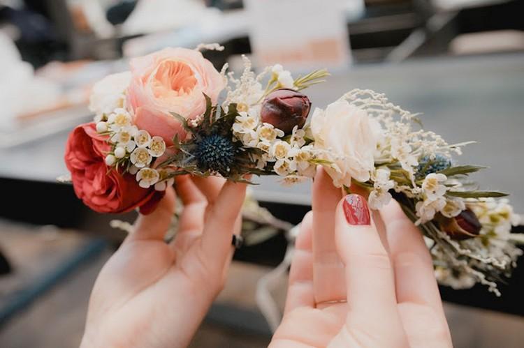 Fleuriste mariage Rhône, fleuriste mariage Lyon, Flower headbands