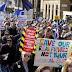 """Londres, miles en las calles contra el """"brexit"""""""