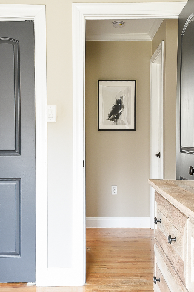 Modern farmhouse hallway decor