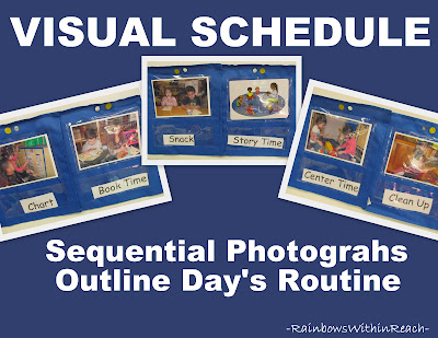 photo of: Preschool Visual Schedule using Photos