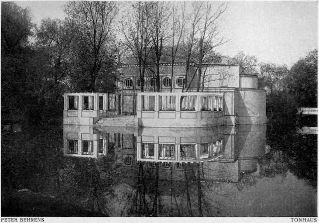 Peter Behrens architecture, 1907 Tonhaus photograph