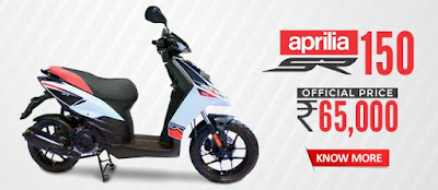 Upcoming 2016 Aprilia SR 150  with price Hd pose
