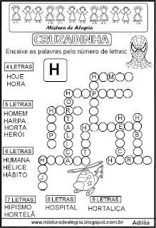 Cruzadinha com a letra H