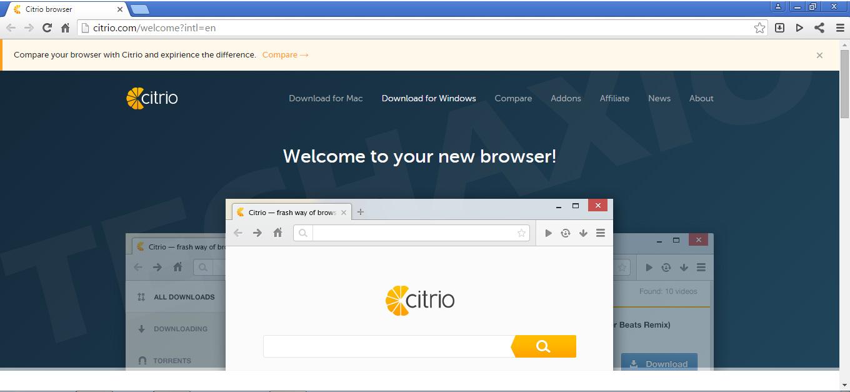 Citrio Browser Screenshot