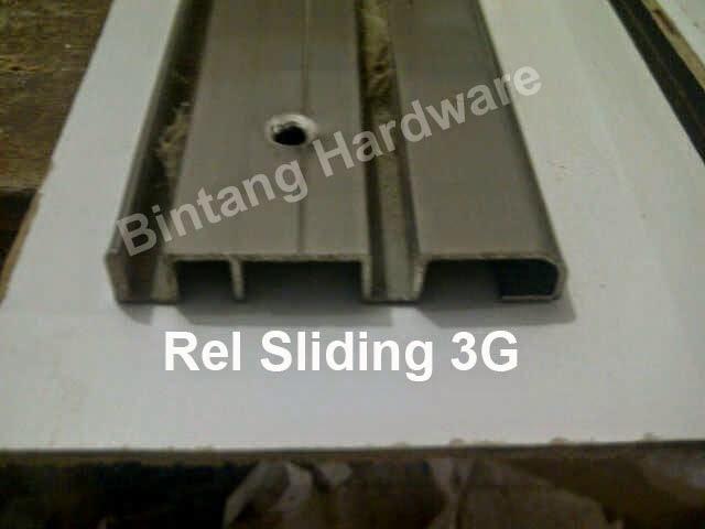 Rel Aluminium Pintu Sliding Bintang Hardware Jual