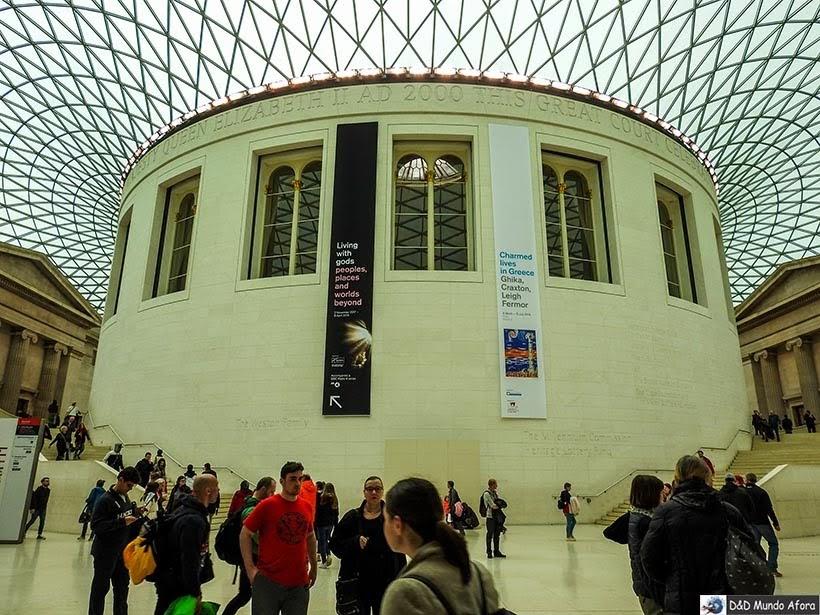 Sala de leitura do Museu Britânico de Londres: local abrigada a antiga biblioteca britânica