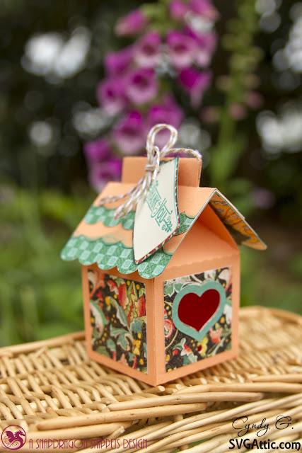 3d paper bird house