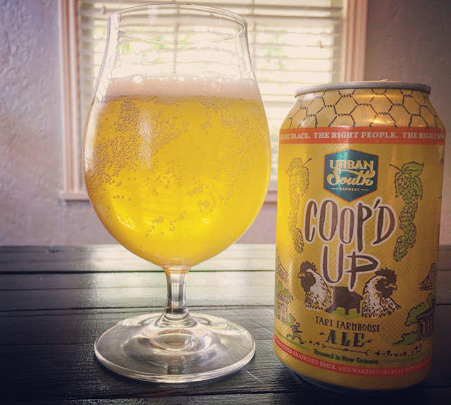 Coop'd Up Tart Farmhouse Ale by Urban South Brewery in New Orleans