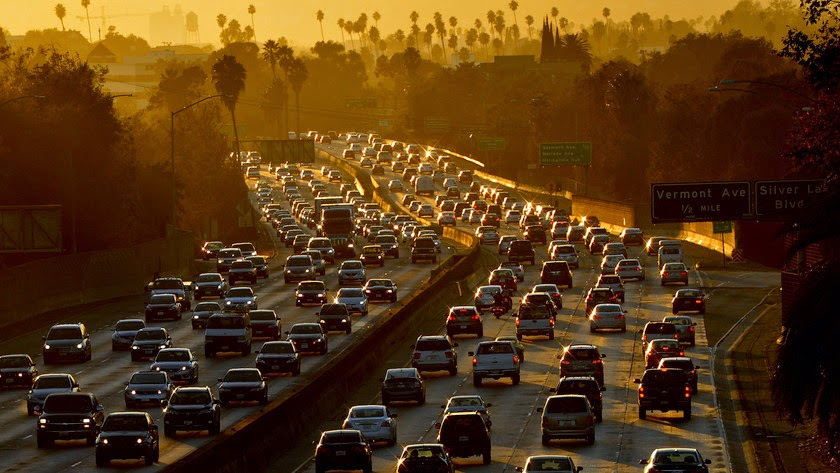 The tighter limits proposed Wednesday for emissions of smog-producing ozone, for example, will phase in for most of the country by 2025. Because California's smog problems are so intense, the EPA said the cuts mandated for some areas of that state will phase in through 2037. (Credit: Mark Ralston/AFP via Getty Images) Click to Enlarge.