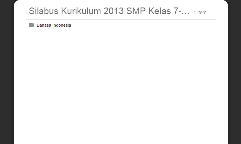 Silabus Kurikulum 2013 SMP Kelas 7-8-9 Bahasa Indonesia Lengkap RevisiTerbaru