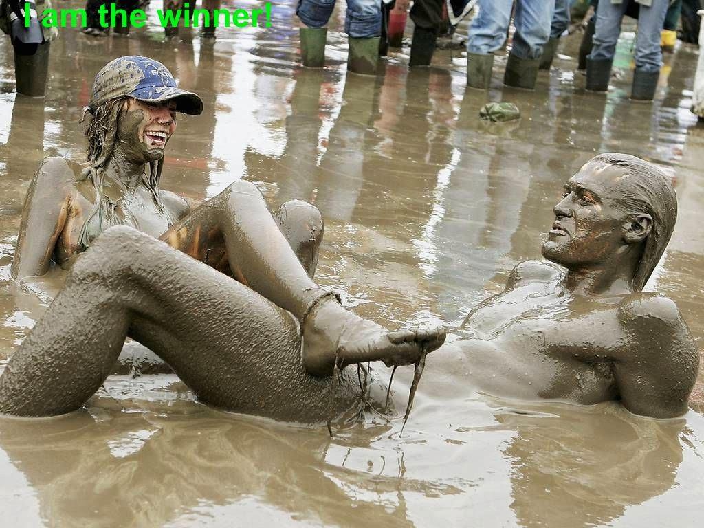 Teen Girls In Mud