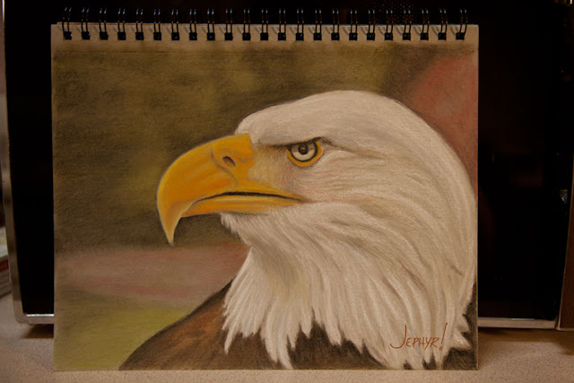 Eagle - Sketchbook Pastel - Copyright 2017 - Jephyr!