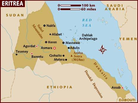 Cartina Eritrea.Ripasso Facile Riassunto Eritrea
