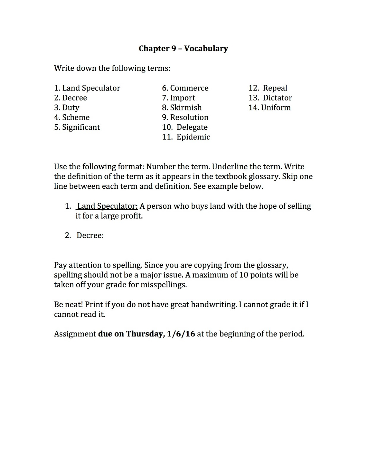 Active Reading Worksheet Chapter 9